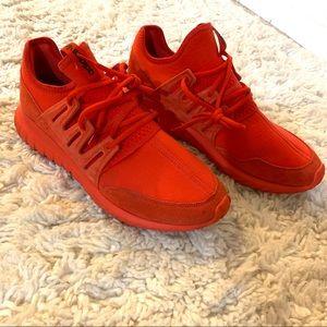 Adidas Men's Tubular Radial Triple Red Sneaker